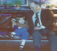 Sitting with my grandfather, 35+ years ago.