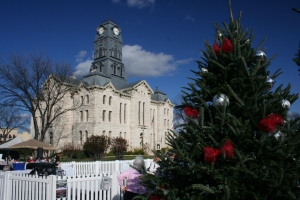 The 1890 Hood County courthouse in Granbury, Texas.