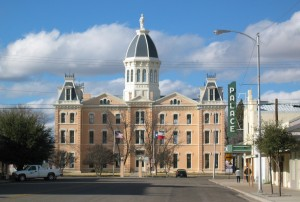 The Presido County Courthouse in Marfa, Texas.